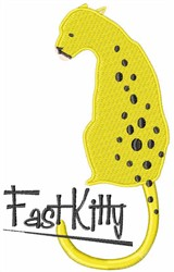 Fast Kitty embroidery design