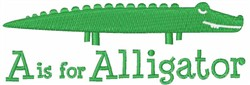 A Is For Alligator embroidery design