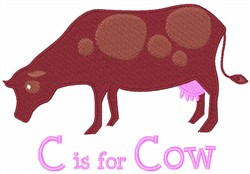 C Is For Cow embroidery design