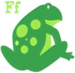 F Frog embroidery design
