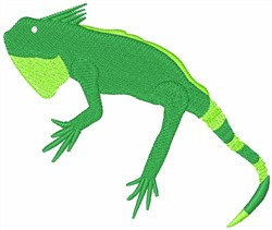 Iguana embroidery design