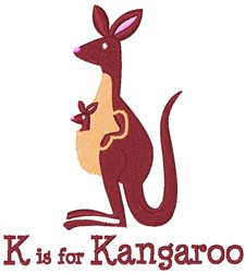 K Is For Kangaroo embroidery design