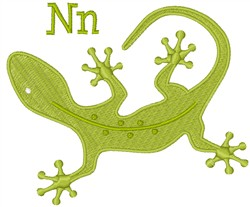 N For Newt  embroidery design