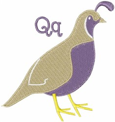 Quail Q embroidery design