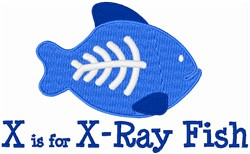X Is For X-Ray Fish embroidery design