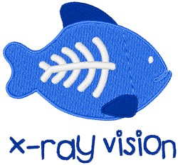 X-Ray Vision Fish embroidery design