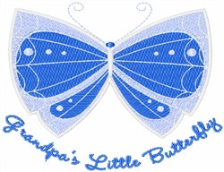 Grandpas Little Butterfly embroidery design