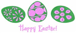 Easter Painted Eggs embroidery design