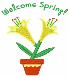 Welcome Spring Lily embroidery design