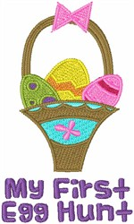 My First Egg Hunt embroidery design
