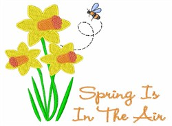 Spring Is In The Air embroidery design