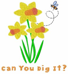 Can You Dig It? embroidery design