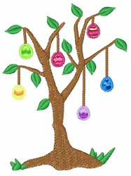 Easter Egg Tree embroidery design
