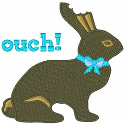 Ouch Chocolate Bunny embroidery design
