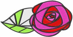 Glass Rose embroidery design