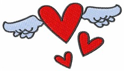 Flying Hearts embroidery design