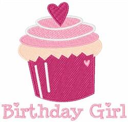 Birthday Girl Cupcake embroidery design