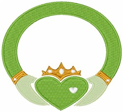 Irish Claddagh Ring embroidery design