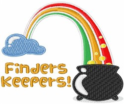 Finders Keepers! embroidery design