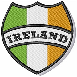 Ireland Crest embroidery design
