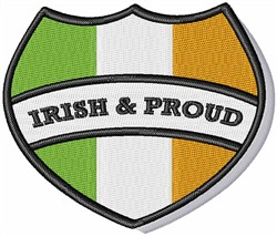 Irish & Proud embroidery design