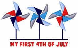 First 4th Of July embroidery design