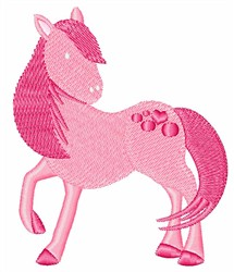 Pink Pony embroidery design