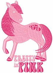 Pretty In Pink Pony embroidery design