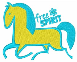 Free Spirit Horse embroidery design