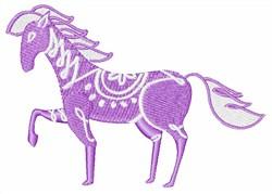 Purple Pony embroidery design