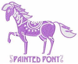 Painted Pony embroidery design