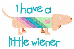 Wiener Dog embroidery design
