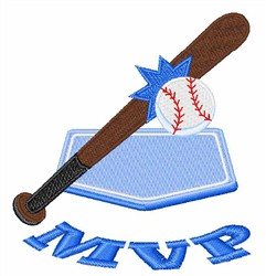 Baseball MVP embroidery design