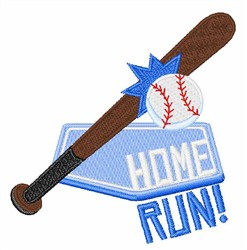 Baseball Home Run embroidery design