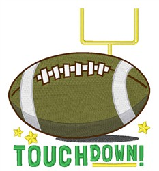 Football Touchdown embroidery design