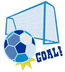 Soccer Goal embroidery design