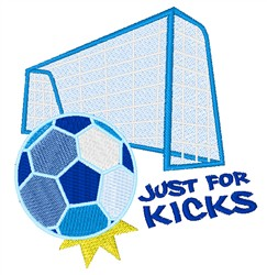 Just For Kicks embroidery design