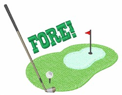 Golf Fore embroidery design