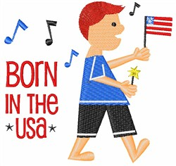 July 4th Boy embroidery design