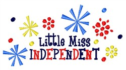 Miss Independant embroidery design