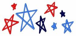 USA Stars embroidery design