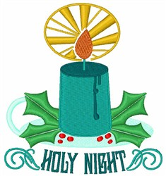 Holy Night embroidery design