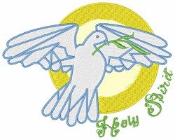 Holy Spirit embroidery design