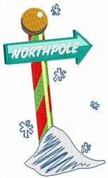 North Pole embroidery design
