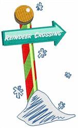 Reindeer Crossing embroidery design