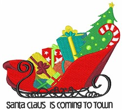 Coming to Town embroidery design