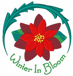 Winter in Bloom embroidery design