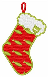 Cat Christmas Stocking embroidery design