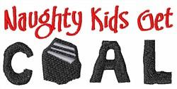 Christmas Coal embroidery design