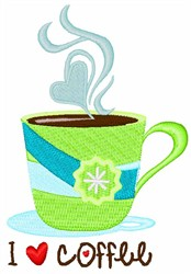 Loving Coffee embroidery design